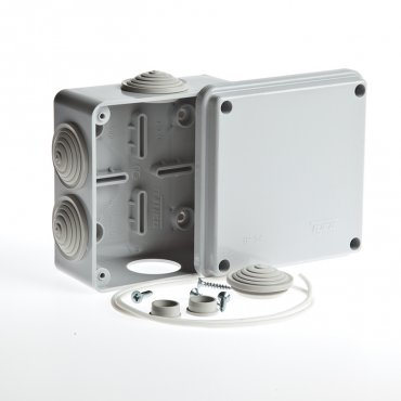 Коробка распределительная для открытой установки 100х100х50 мм, Коробки распределительные