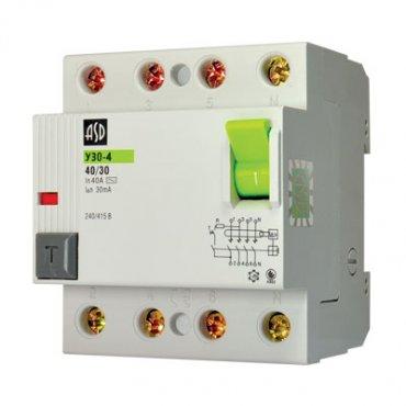 Выключатель дифференциальный УЗО-4 4Р 32А 100мА ASD