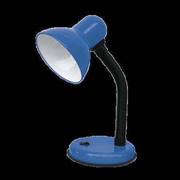 Светильник настольный под лампу СНО-02С на основании 60Вт E27 230В СИНИЙ (мягкая упаковка) IN HOME, Настольные светильники