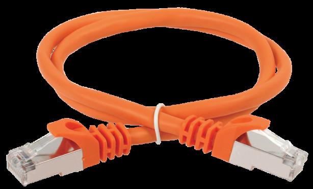 ITK Коммутационный шнур (патч-корд), кат.5Е FTP, 0,5м, оранжевый, кабель витая пара