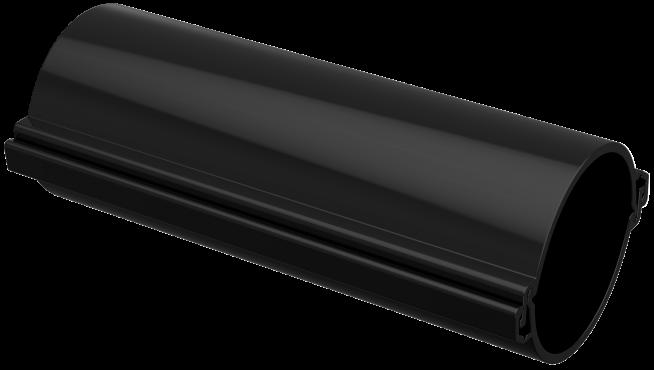 Труба гладкая разборная d=110мм черная (3м) IEK, Труба жесткая ПВХ и ПНД
