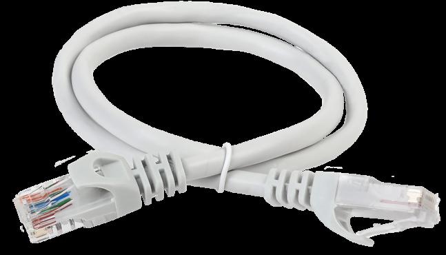 ITK Коммутационный шнур (патч-корд), кат.5Е UTP, 2м, серый, кабель витая пара
