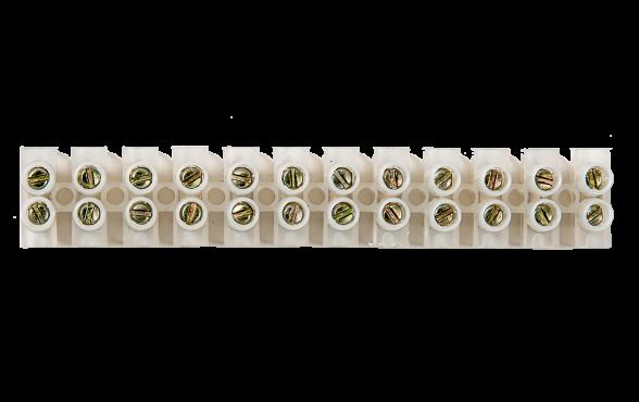 Колодка КЗВ 15-12 15А 4-10мм 12пар IN HOME, Соединительные изолирующие зажимы