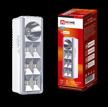 Светильник светодиодный аварийный СБА 2207DC 6+1LED 1.0Ah lithium battery DC IN HOME, Аварийные светильники