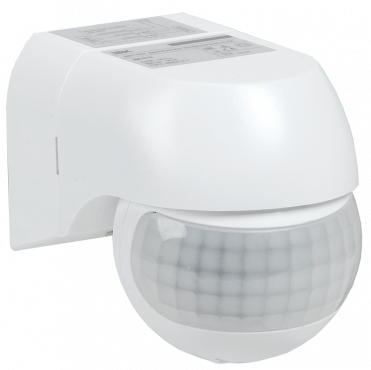 Датчик движения ДД 015 белый 800Вт 180гр 12м IP44 IEK, Датчики
